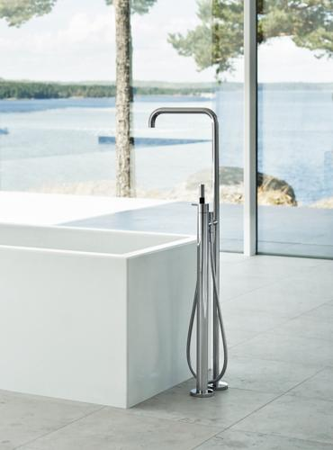Vola Free Stading Tub Set. Vola bathroom fixtures  faucets and accessories for a sleek bath